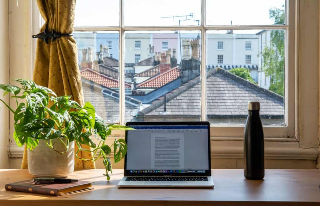 Work from Home Setup with a Laptop