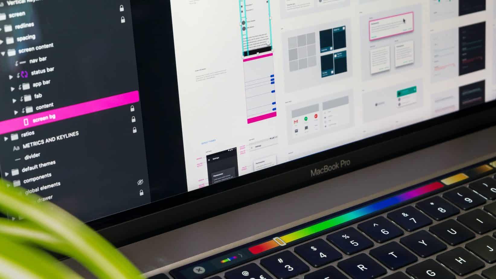 Screen of an UX Designer's Laptop.